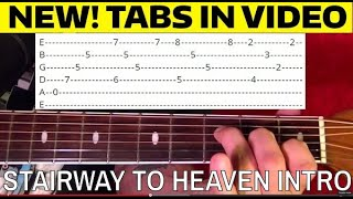 Stairway to Heaven Intro - Guitar Lesson WITH TABS!