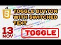 Creating a Toggle Button with Switched Text with JavaScript