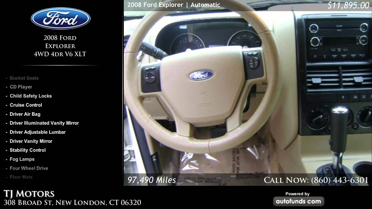 used 2008 ford explorer tj motors new london ct sold