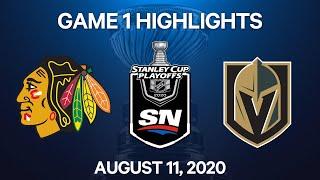 NHL Highlights   1st Round, Game 1: Blackhawks vs. Golden Knights  – Aug. 11, 2020