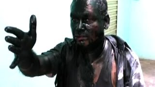 Shiv Sena beat the RTI activist up, smeared him with ink afterwards