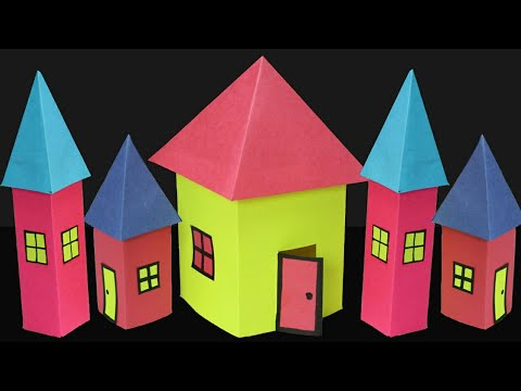 Paper House Making- 4 sided Roof- Very Easy