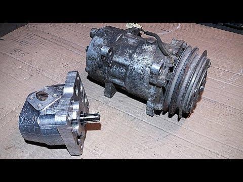 Гидравлика на минитрактор #1  Муфта от кондиционера на НШ-10