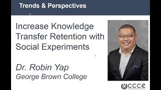 Increase Knowledge Transfer Retention with Social Experiments