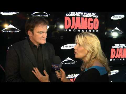 Quentin Tarantino Thrills a Fan - Django Unchained - Out There Online Extra
