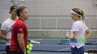 Genie Bouchard - Wednesday Fed Cup practice