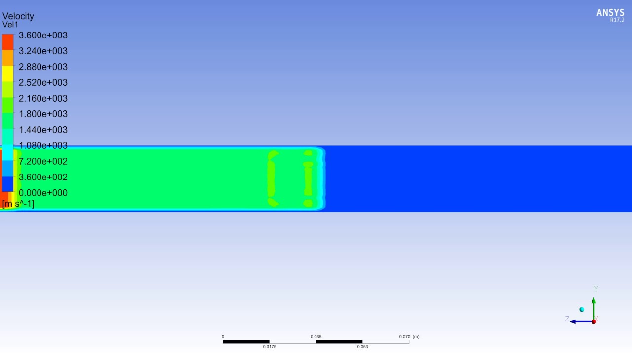 Supersonic Air Flow in Pipe (Velocity) - YouTube