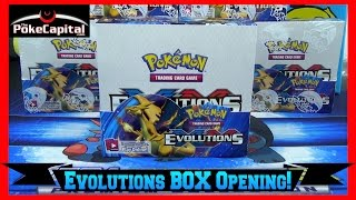 pokemon cards xy evolutions booster box opening with so much shine