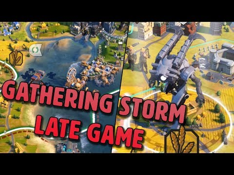 Civilization VI Gathering Storm Late Game - Climate Change, Giant Death Robot and More!