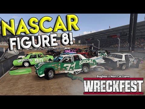 MASSIVE NASCAR CRASH AT FIGURE 8 TRACK! - Next Car Game: Wreckfest Gameplay - Nascar Big One