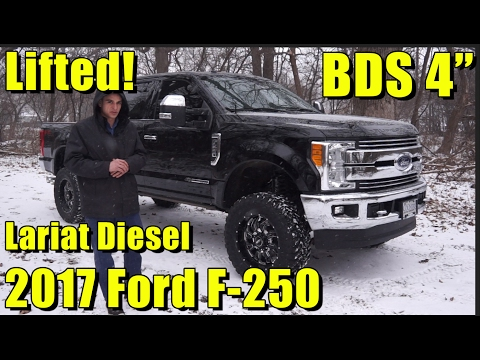 "LIFTED  Ford F-! Powerstroke Diesel! Full walkaround! "" BDS Lift, SOTA Off-Road Wheels!"