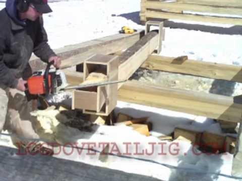 Log Dovetail Jig Cutting Log Cabin Notches Youtube