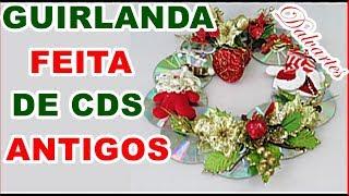 GUIRLANDA FEITA DE CD ANTIGOS