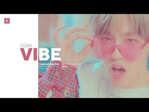 1TEAM - VIBE Line Distribution (Color Coded)   원팀 - 습관적 VIBE