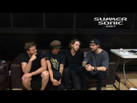 5 SECONDS OF SUMMER message for SUMMER SONIC 2017