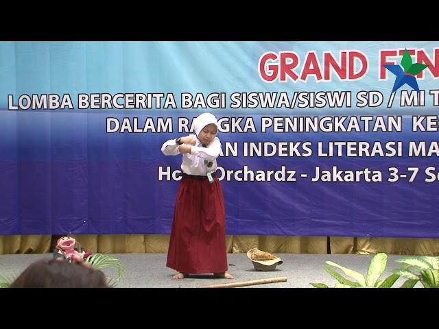 Juara Harapan III Qailannisa Artameli : Lomba Bercerita Bagi Siswa SD/MI Tingkat nasional 2018