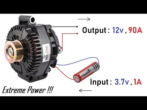 90 Amps High Current Generator from 12V Car Alternator  - Valeo Alternator (Part-1)