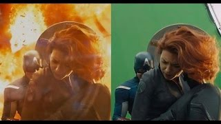 До и после спецэффектов