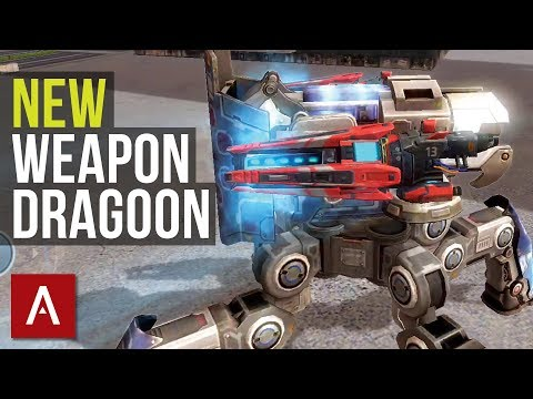War Robots Test Server 3.6: DRAGOON (HEAVY WEAPON) with Gameplay