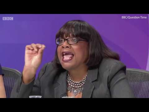 Diane Abbott forced to apologise by Question Time audience member