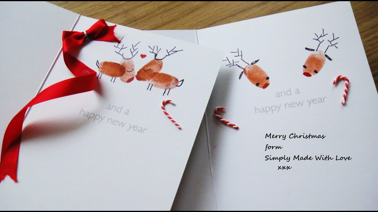 diy how to decorate your christmas cards