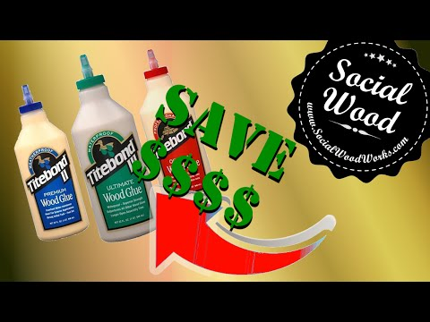 Woodworking tip # 2 - Save Money on Wood Glue