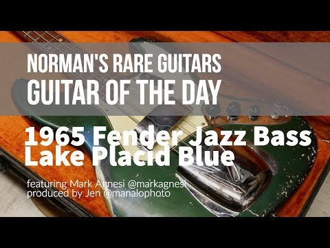 Norman's Rare Guitars - Guitar of the Day: 1965 Fender Jazz Bass Lake Placid Blue