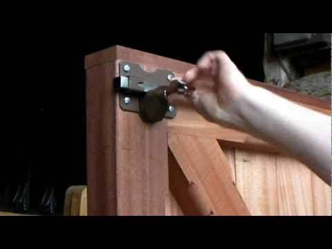 WOODEN GATE LOCK, GARAGE DOOR LOCK, INSTALLATION GUIDE