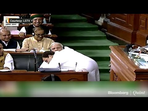 Rahul Gandhi Hugs PM Narendra Modi in Parliament | #NoConfidenceMotion