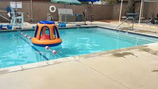 Tierra's swimming pool, clean and tools