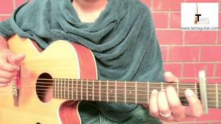 1973 (Unplugged) James Blunt guitar lesson fingerstyle rhythm www.tamsguitar.com