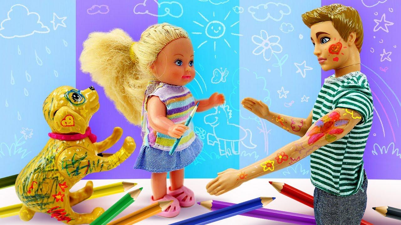 Evi Love pintou as unhas do Ken enquanto ele dormia! Novelinha da boneca Barbie em português