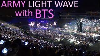 ARMY LIGHT WAVE w/ BTS (방탄소년단) // Speak Yourself Tour @ LA Rose Bowl Concert