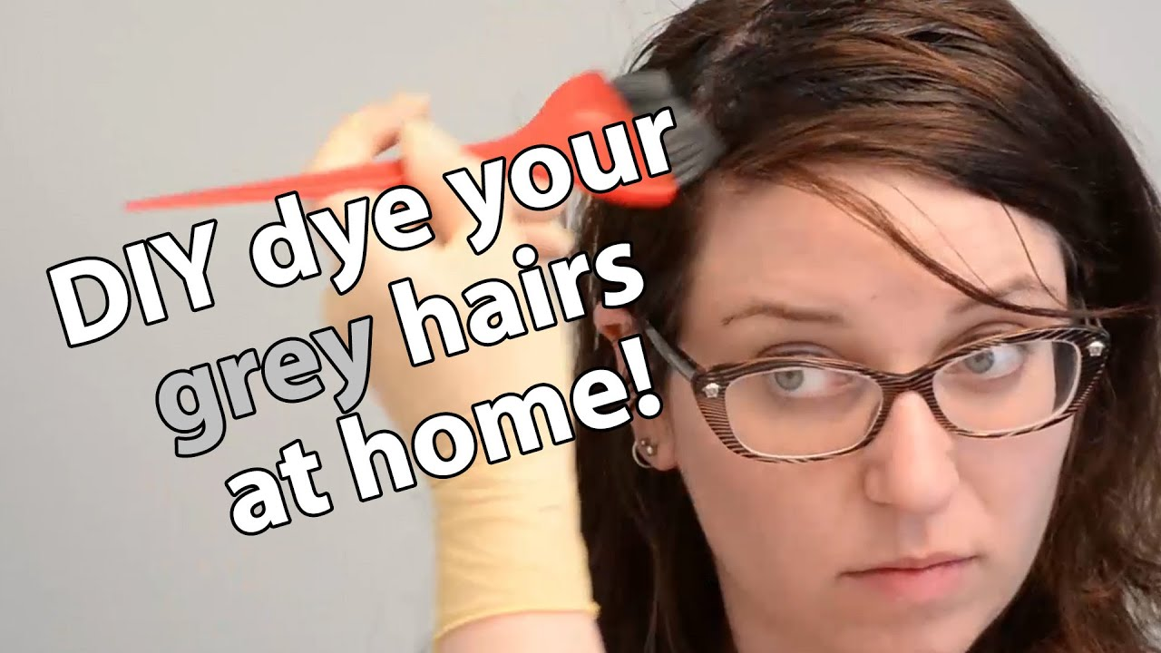 How to dye your gray hair at home - YouTube