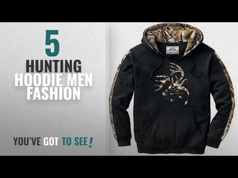 Top 10 Hunting Hoodie [Men Fashion Winter 2018 ]: Legendary Whitetails Mens Outfitter Hoodie Onyx