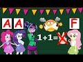 Equestria Girls The Funny Story Of Math Competition In The Classroom