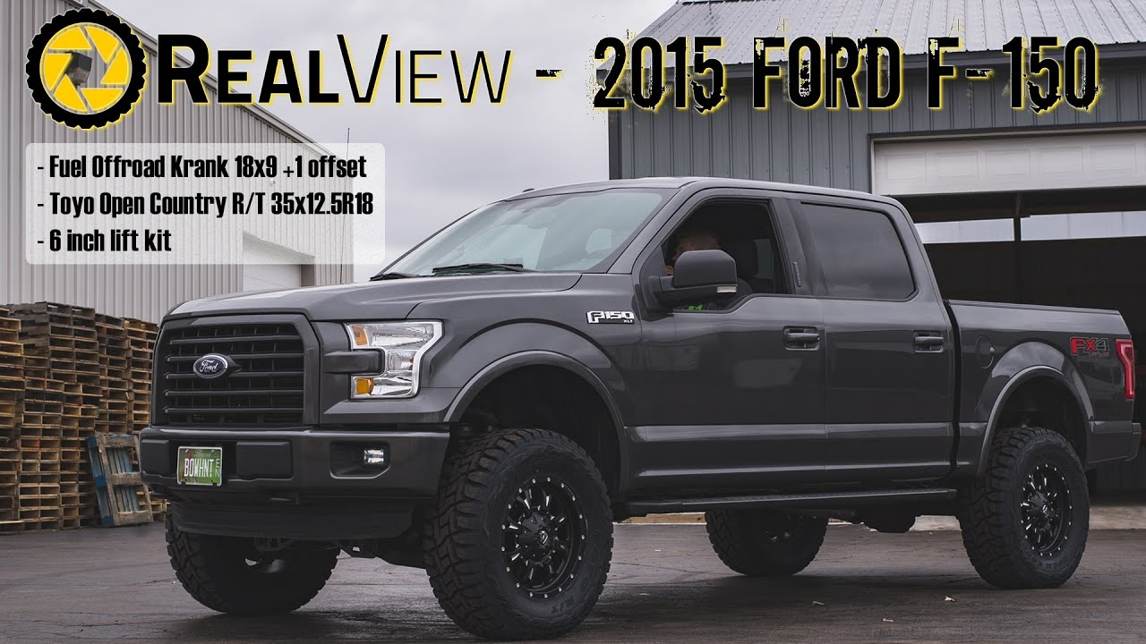"2015 F150 Lifted >> RealView - Lifted 2015 Ford F-150 w/ 18"" Fuel Offroad Kranks & 35"" Toyo Open Country R/Ts - YouTube"
