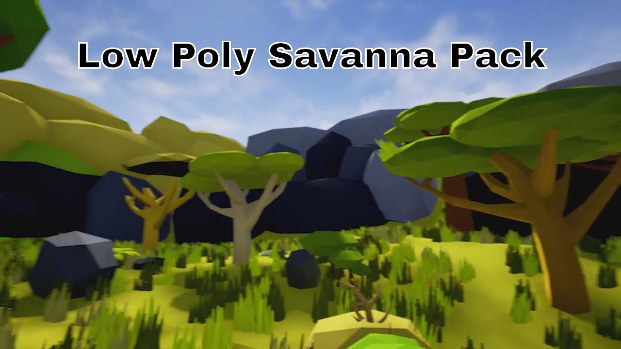 Free Low Poly Savanna Pack UE4