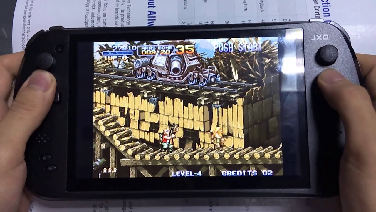 JXD S7800B Handheld Game Console-Metal Slug 1 FBA MAME Video Game Tested -  YouTube