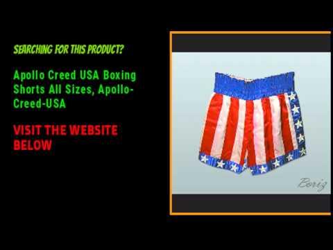 Apollo Creed USA Boxing Shorts All Sizes  Apollo Creed USA