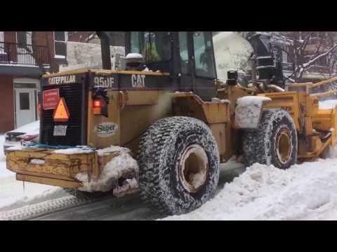 Larue D65 Snowblower snowstorm 16/02/2017 Montréal snow removal action