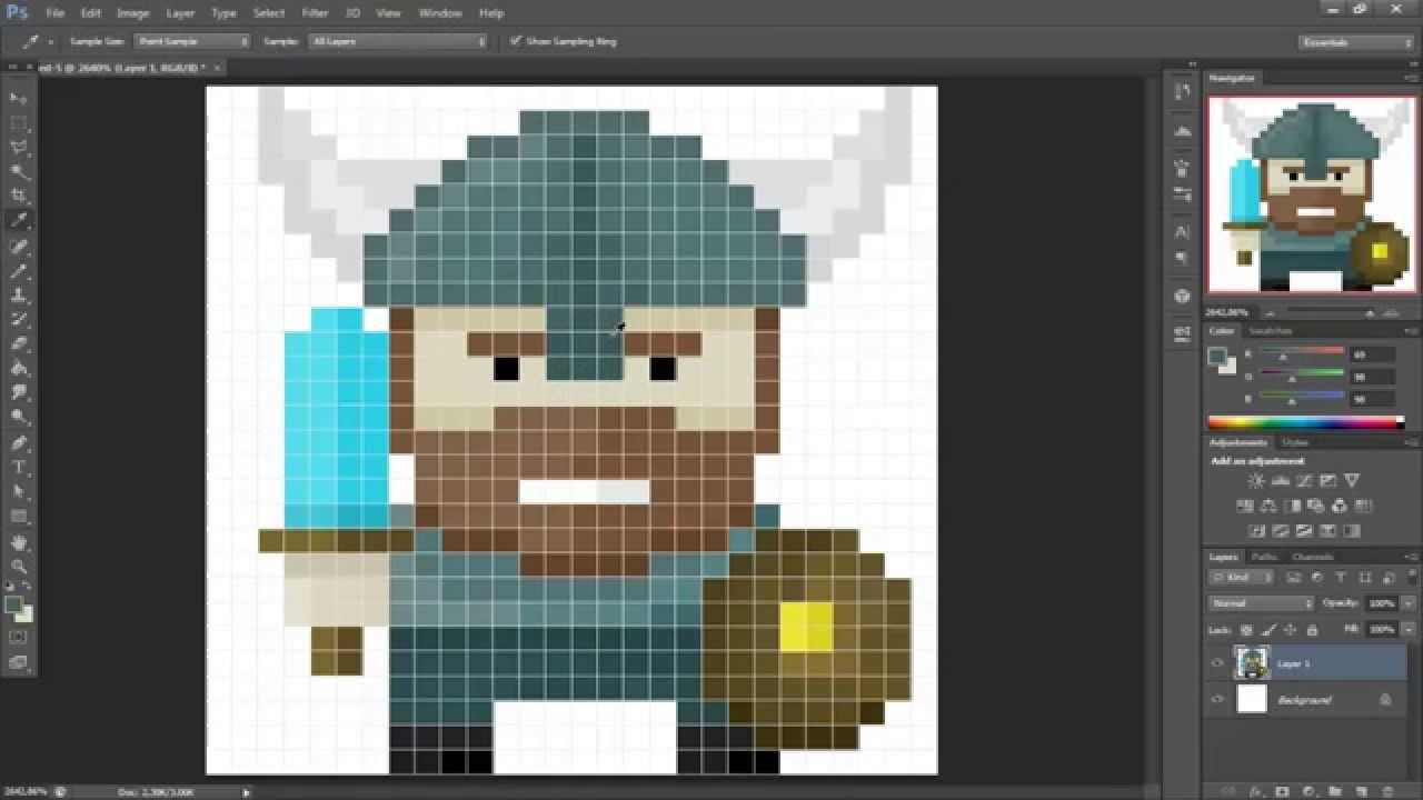 pixel art viking