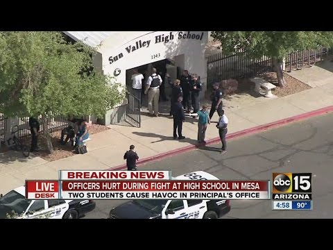 Officers hurt during fight at high school in Mesa