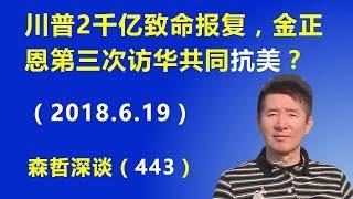 """川普2千亿致命报复,金正恩第三次访华共同""""抗美""""?(2018.6.19)"""