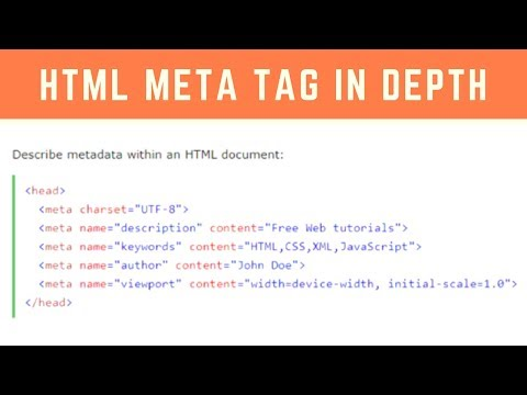 Programming Tip Of The Day #6: What Is Meta Tag In HTML In Hindi | HTML5 Meta Tag Tutorial