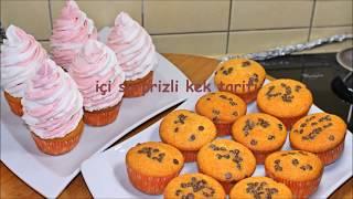 çocukların hayran kalacağı içi surprizli muffin tarifi
