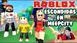 Escondidas en MeepCity | Escondido de Mama y Papa | Meep City Roblox Roleplay