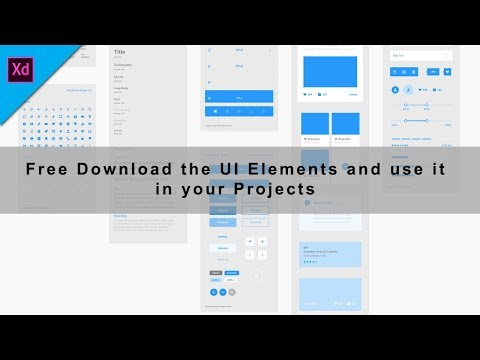 How to Download UI Elements | UI Kits Free for Adobe XD 2018