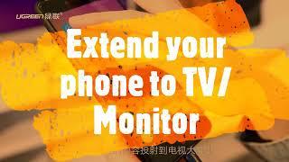 [Sysnapse.com] TV monitors US228 ipad to projector vga adapter iPhone8 Xs Android