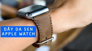 Mở hộp dây da SEN Apple Watch
